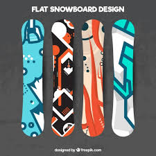 snowboard design various snowboard in modern design vector free