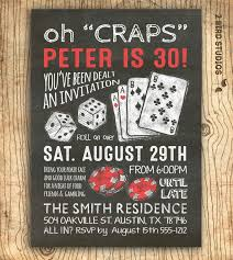 60th Birthday Invitation Card Casino Invitation For Poker Party Birthday 30th Birthday Or