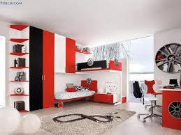boys bedroom enchanting red sport theme kid bedroom design and