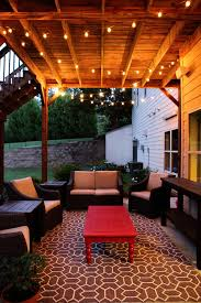 How To Decorate Decks And Patios Swag U0026 Chainlink Outdoor Rugs Christmas Lights And Decking