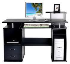 Black Computer Desk Computer Desk Office Workstation Black Finish Bennetts