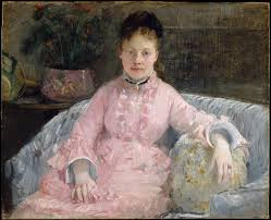 berthe morisot the pink dress albertie marguerite carré later