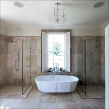 bathroom magnificent pedestal bathtub black chandelier bedroom