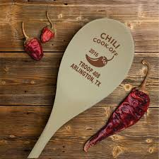 chili cook off personalized wooden spoon prize hostess gift