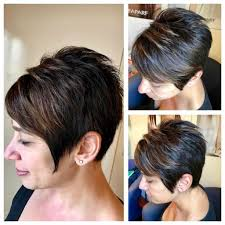 women u0027s short spiky textured pixie with side swept bangs and dark