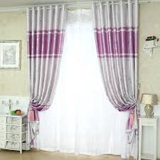 Pink And Purple Curtains Solid Purple And Silver Ready Made Brief Blackout Curtains