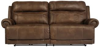 austere brown power reclining sofa the furniture mart