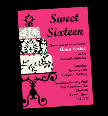 Party Invitation Card Design Sweet 16 Party Invitations Theruntime Com