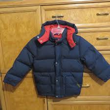 boys polo ralph lauren down puffer jacket winter coat navy blue