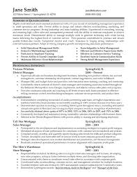 sales resume summary of qualifications exles management sle resume summary of qualifications retail fresh sle resume