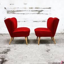 fauteuils rouges fauteuil cocktail vintage des ées 50 mille m2