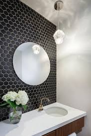 black bathroom tile ideas brown cream marble small rectangular