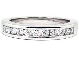 channel set wedding band platinum channel set diamond wedding band washington diamond
