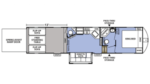 Toy Hauler Floor Plans Forest River Xlr Boost 36dsx13 5th Wheel Toy Hauler Floor Plan