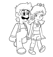 daisy mario coloring pages getcoloringpages com
