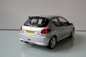 peugeot gti 206 diecast peugeot 206 gti modelcar norev 1 18 in silver owned by