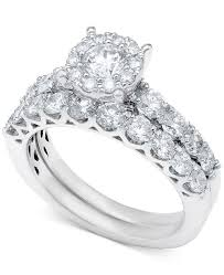 bridal rings images Macy 39 s diamond bridal ring set in 14k white gold or gold 2 ct tif