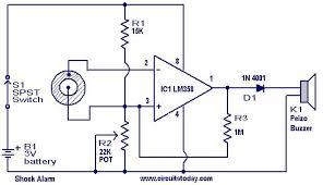shock alarm circuit electronic circuits and diagram electronics