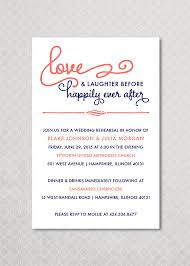 happily after rehearsal dinner invitation by pinchofspice