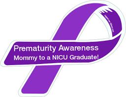 custom awareness ribbons custom ribbon prematurity awareness to a nicu graduate