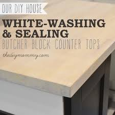 whitewash and seal a butcher block counter top the diy mommy whitewashing and sealing a butcher block countertop by