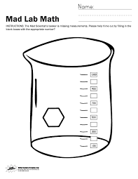 mad lab halloween math worksheets paging supermom