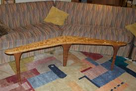 Boomerang Coffee Table Boomerang Table Curly Maple Root Cherry Gold Leaf Finewoodworking
