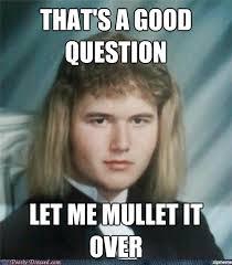 Question Meme - un categorized that s a good question let me mullet it over