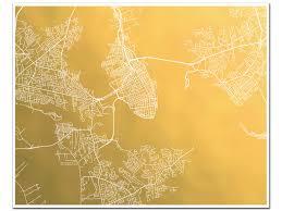 Charleston Sc Zip Code Map Charleston Map Gold Foil Map Of Charleston Sc Gold Foil