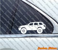 jeep station wagon lifted 2x lifted 4x4 outline stickers for jeep grand cherokee wk