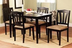 Dinette Kitchen Dining Room Set Table With  Chairs In Cappuccino - Black kitchen table and chairs