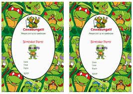 teenage mutant ninja turtles birthday invitations marialonghi com