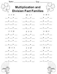 math fact families multiplication division wonderful multiplication fact families worksheet pictures free