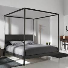 Black King Canopy Bed House Chic Modern Wood Canopy Bed Canopy Bed Double Contemporary