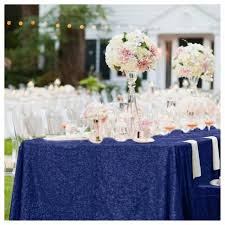 wedding table cloths wholesale 10pcs 90x156inch navy blue rectangle sequin tablecloth