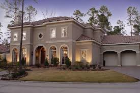 Florida Mediterranean Style Homes - mediterranean style luxurious house exterior with exterior paint