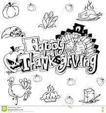 doodle happy thanksgiving stock vector image 73712502