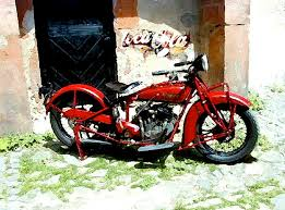 american indian indian motorcycle painting by iconic images art