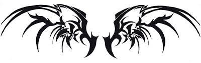 black tribal wings by snobunnyluvzyou on deviantart