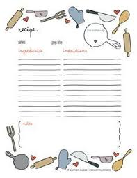 printable cookbook template for word templates pinterest