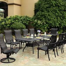 darlee victoria 11 piece resin wicker patio dining set with
