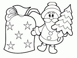 color santa claus kids coloring