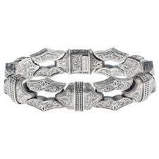 sterling silver bracelet designs images Designer men 39 s silver link bracelet gerochristo 6225n sharp jpg