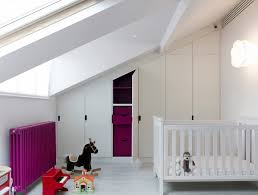 baby nursery baby nursery idea features slanted ceiling with