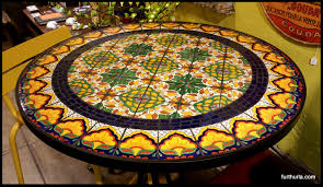 Mexican Patio Furniture Sets - tile and glass mosaic tables