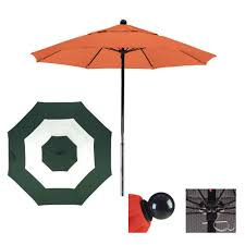 Orange Patio Umbrella by 9 U0027 Sunbrella Fabric Fiberglass Patio Market Umbrella Middle Accent
