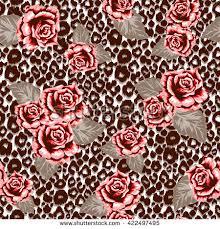 black leopard pattern seamless print stock vector 351604898