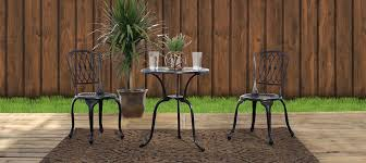 piece cast aluminum patio furniture bistro set by beka casting