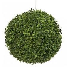 one 13 inch outdoor artificial boxwood leaf topiary bush