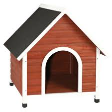 Doghouse For Large Dogs Trixie Nantucket Large Dog House In Brown White 39474 The Home Depot